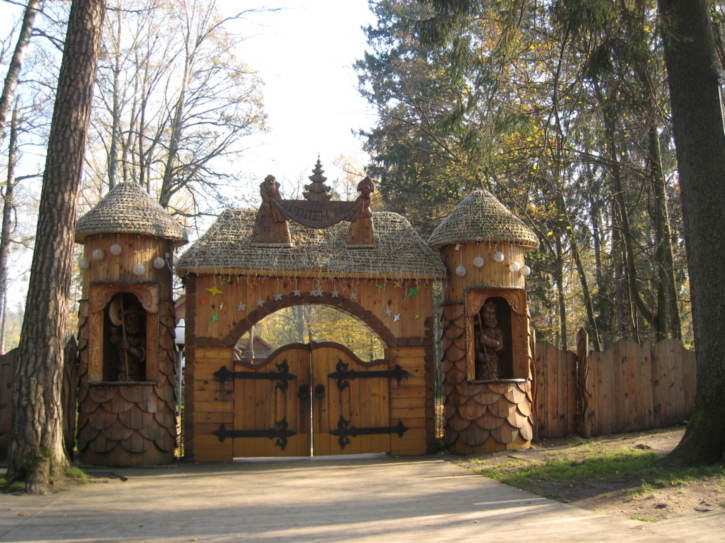 Entrance to home of Belorussian Santa Claus