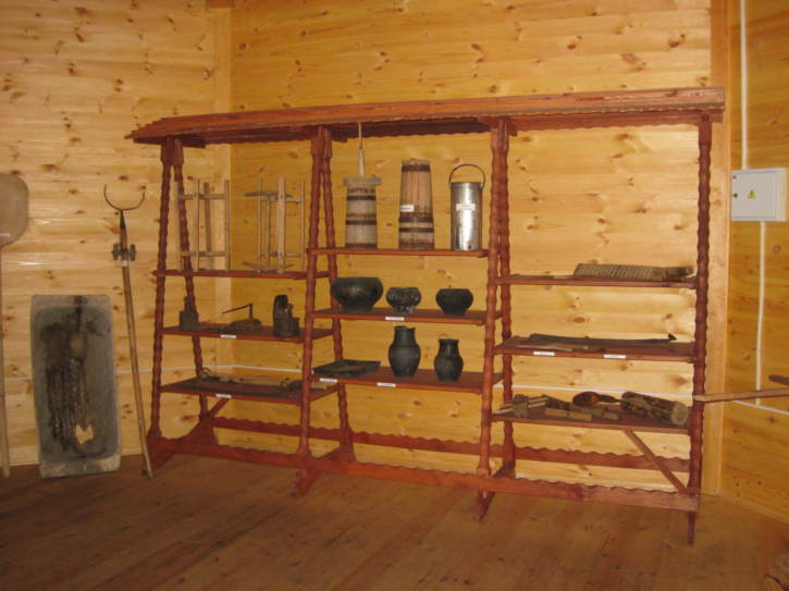 Shelves of various ornaments