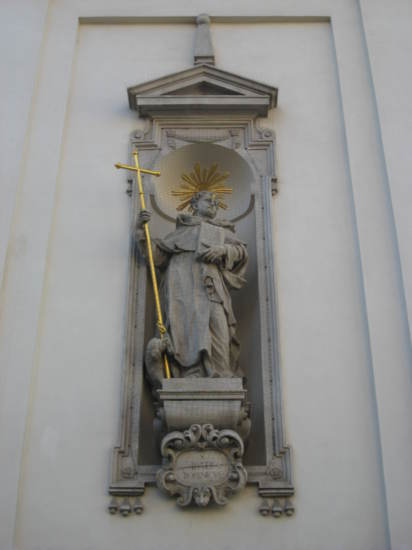 On wall of St. Michael Church