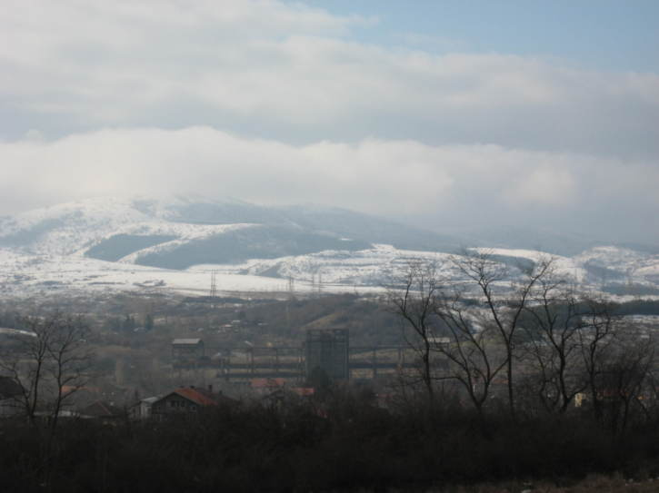 Mountain views from a road near Sofia