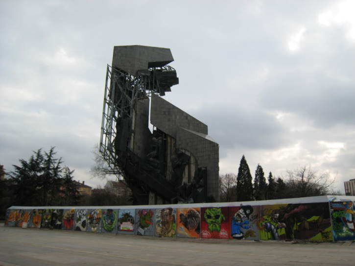 Decaying Soviet monument