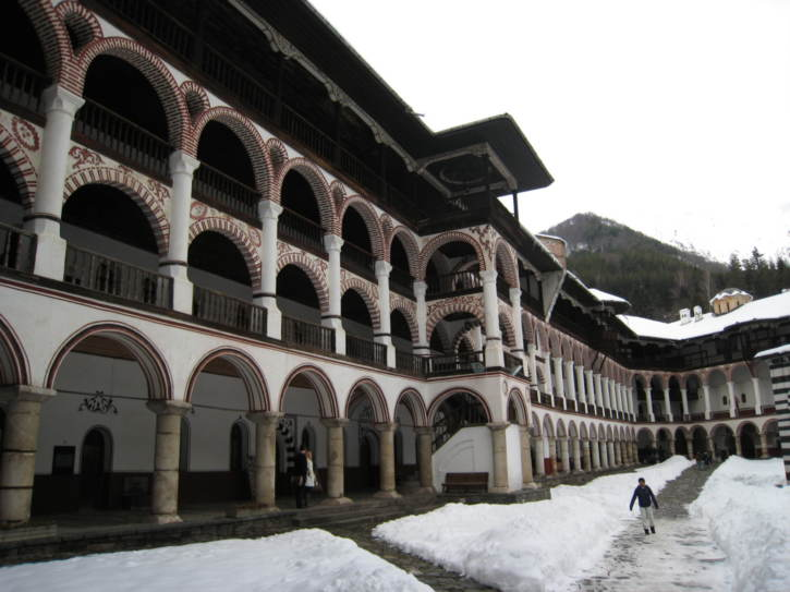 Accommodation area of the monastery