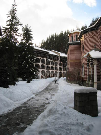 View of the monastery grounds