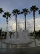 Fountain that activated when you got near it. Fun!
