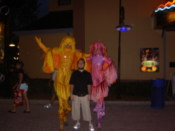Me with some dudes on stilts