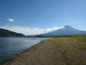 View of Mount Fuji from the west shore of Lake Kawaguchi