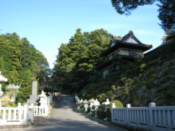 Entrace to a temple on the southwest shore of Lake Kawaguchi
