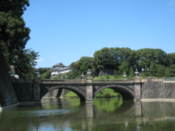Imperial Palace seen over a bridge
