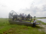 Our airboat, with Captain John