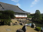 Nijo Castle buildings and pond