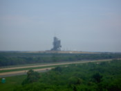 The shuttle launch pad