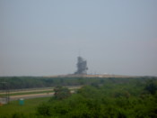 Closer view of the launch pad