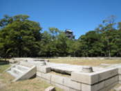 Foundations of what was once a historial military office; the a-bomb destroyed it