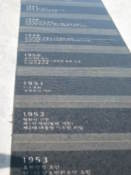 A series of slabs showing Korean history on Gwanghwamun Plaza