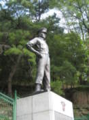 Statue of a soldier from the Korean War