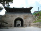 Gate on the historical city wall