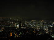 Night view from N Seoul Tower