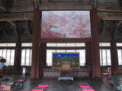 Inside unknown building at Gyeongbokgung Palace