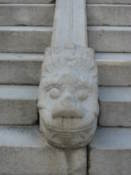 Decoration on a staircase outside Jibokjae