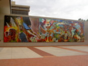 A mural at the Tucson Museum of Art