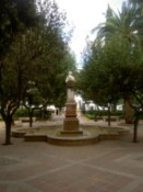 A fountain in a nice square
