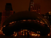 The huge donut thing in Millenium park