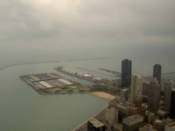 Navy pier and the water treatment facility