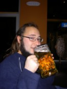 Yup, that's a whole litre of tasty beer. Mmmm...