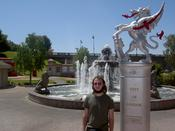 Me And A Statue Thingy
