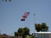 The USA Flag, The British Flag And The Arizona State Flag