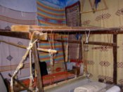 A loom in a weaving shop