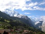 View from Wengen railway station