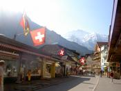 The main street of Wengen