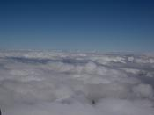 At the top - above the clouds!