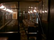 Inside an old electric tram...