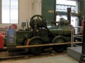 An unusual light steam loco for use on tram-like rails.