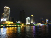 The riverside by night