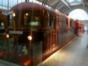 An old London underground train
