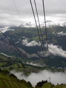The cable car down to Wengen