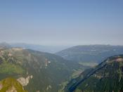 At the peak, looking into the Interlaken valley