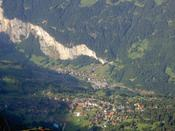 The town at the bottom of the photo is Wengen - the other is Lauterbrunnen