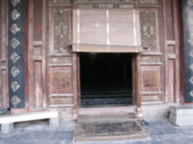 Entrance to the prayer hall