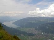 Interlaken and lake Brienz