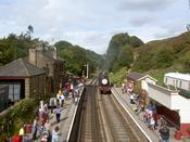 A Train Comes Into Goathland...