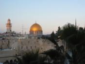 Looking towards the Dome of the Rock