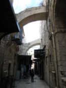 Street where Jesus walked on his way to the cross