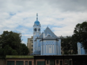 The Blue Church, from behind