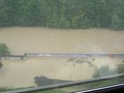 Flooding in Bern this time - houses were deep in water