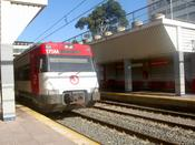 Train to Fuengirola enters the station