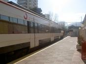 Train to Fuengirola in the station